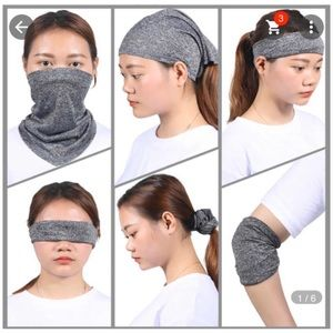 Face Gaiter With Multiple Pupose